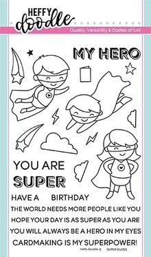 Heffy Doodle Superdudes Stamps (HFD0120)