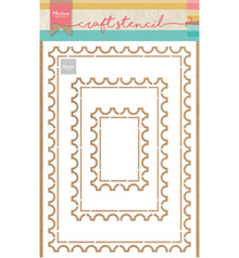 Marianne Design Masking Stencil Post Card (PS8034)