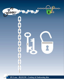 By Lene Metal Dies Keys & Lock (BLD1190)