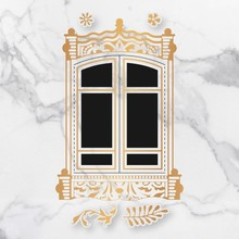 Couture Creations Baroque Window Frame Cut, Foil & Emboss Die (CO726762)