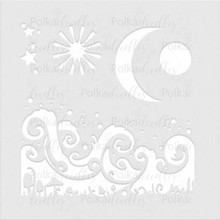 Polkadoodles Magic Moon 6x6 Inch Creative Stencil (PD7907)