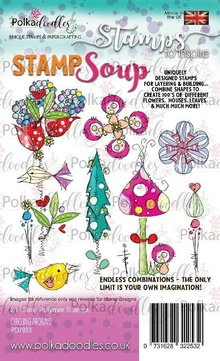 Polkadoodles Circling Around Stamp Soup Clear Stamps (PD7883)