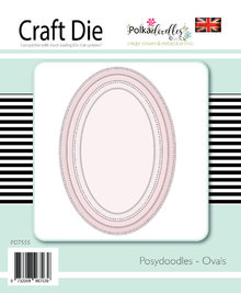 Polkadoodles Posydoodles Ovals Dies (PD7555)