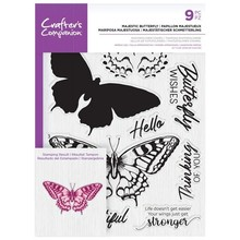 Crafter's Companion Majestic Butterfly Clear Stamps (CC-STP-MAJE)