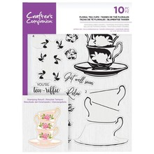 Crafter's Companion Floral Tea Cups Clear Stamps (CC-STP-FTCU)