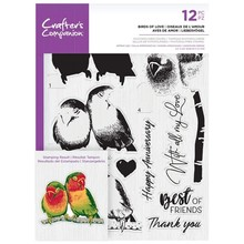 Crafter's Companion Birds of Love Clear Stamps (CC-STP-BIRD)