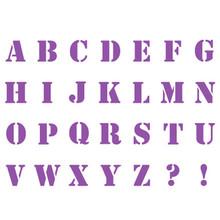 Stamperia Masking Stencil A5 Alphabet (KSD08)