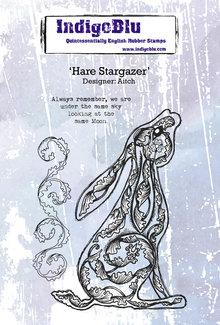 IndigoBlu Hare Stargazer A6 Rubber Stamp (IND0541)