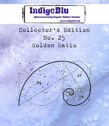 IndigoBlu Collectors Edition 25 Rubber Stamp - Golden Ratio (IND0503)