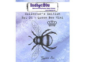 IndigoBlu Collectors Edition 26 Rubber Stamp - Queen Bee Mini (IND0538)