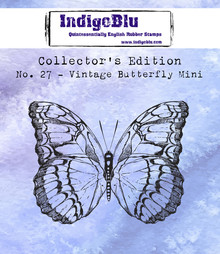 IndigoBlu Collectors Edition 27 Rubber Stamp - Vintage Butterfly Mini (IND0539)