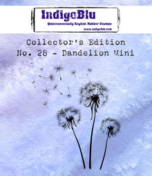 IndigoBlu Collectors Edition 28 Rubber Stamp - Dandelion Mini (IND0540)