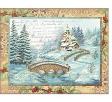 Stamperia Rice Paper A4 Christmas Bridge (DFSA4040)