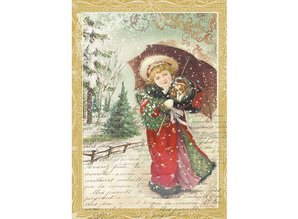 Stamperia Rice Paper A4 Little Girl with Umbrella (DFSA4143)