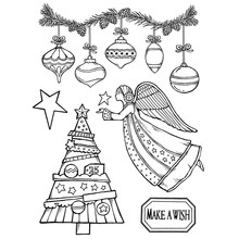Stamperia Natural Rubber Stamp Make A Wish Angel (WTKCC162)