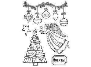 Stamperia Natural Rubber Stamp Make A Wish Angel (WTKCC162)