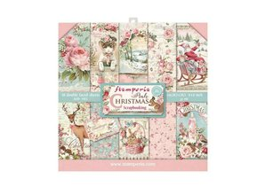 Stamperia Pink Christmas 8x8 Inch Paper Pack (SBBS03)