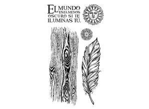 Stamperia Natural Rubber Stamp Cosmos Feather (WTKCCR06)