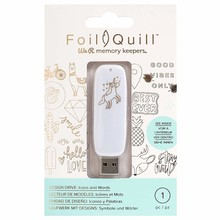 We R Memory Keepers Foil Quill USB Design Drive Icons & Words (660688)