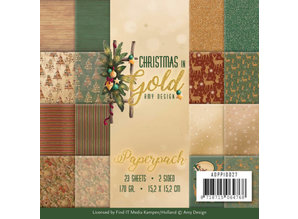 Amy Design Christmas in Gold 6x6 Inch Paper Pack (ADPP10027)