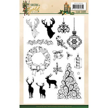 Amy Design Christmas in Gold Clear Stamp Set (ADCS10059)