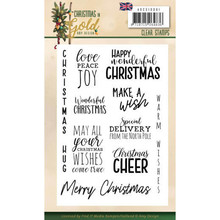Amy Design Christmas in Gold Text ENG Clear Stamp Set (ADCS10061)