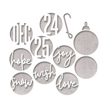 Sizzix Thinlits Alterations Circle Words Christmas (664205)