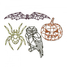 Sizzix Thinlits Alterations Geo Halloween (664208)