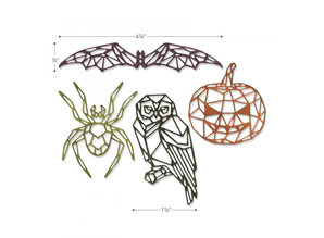Sizzix Thinlits Alterations Geo Halloween (664208)