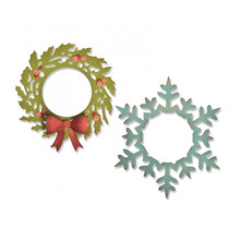 Sizzix Thinlits Alterations Wreath & Snowflake (664210)