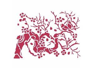 Stamperia Masking Stencil A5 Bird On Branch (KSD301)
