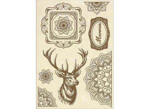 Stamperia Wooden Shapes A5 Cosmos Deer (KLSP057)