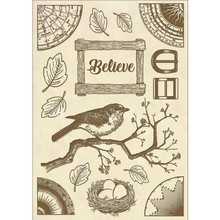 Stamperia Wooden Shapes A5 Cosmos Believe Bird (KLSP058)