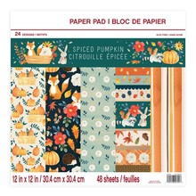 Craft Smith Spiced Pumpkin 12x12 Inch Paper Pad (MSE4310)