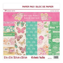 Craft Smith Boutique Market 12x12 Inch Paper Pad (MSE4311)