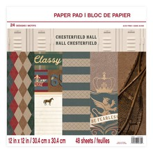 Craft Smith Chesterfield Hall 12x12 Inch Paper Pad (MSE4316)