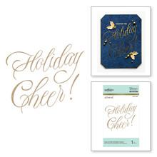 Spellbinders Faux Script Holiday Cheer! Hot Foil Plate (GLP-065)
