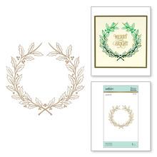 Spellbinders Holly Wreath Hot Foil Plate (GLP-086)