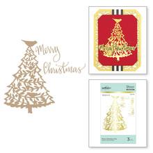Spellbinders Merry Christmas Tree Hot Foil Plate (GLP-113)