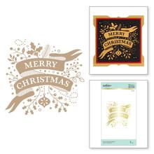 Spellbinders Merry Christmas Banner Hot Foil Plate (GPL-114)