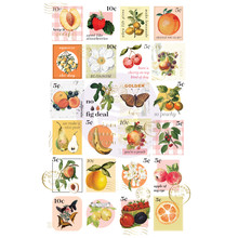 Prima Marketing Inc Fruit Paradise Postage Stamps Stickers (638511)