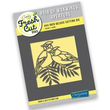 Claritystamp Paif of Waxwings 4x4 Inch Aperture Die (ACC-DI-30821-44)