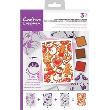 Crafter's Companion Jolly Gingerbread Background Layering Stamps (CC-STP-JOLG)