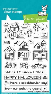 Lawn Fawn Spooky Village Clear Stamps (LF2014)