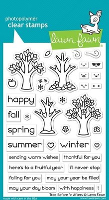 Lawn Fawn Tree Before 'n Afters Clear Stamps (LF2018)