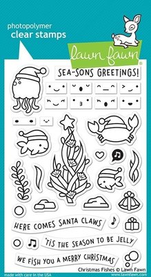Lawn Fawn Christmas Fishes Clear Stamps (LF2024)