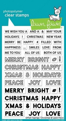 Lawn Fawn Offset Sayings Christmas Clear Stamps (LF2026)