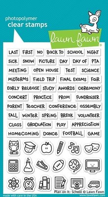 Lawn Fawn Plan On It: School Clear Stamps (LF2040)