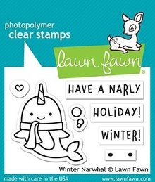 Lawn Fawn Winter Narwhal Clear Stamps (LF2038)