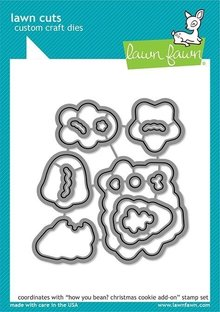 Lawn Fawn How You Bean? Christmas Cookie Add-on Dies (LF2034)